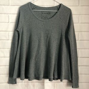 Free People We The Free Light Gray Thermal Tunic